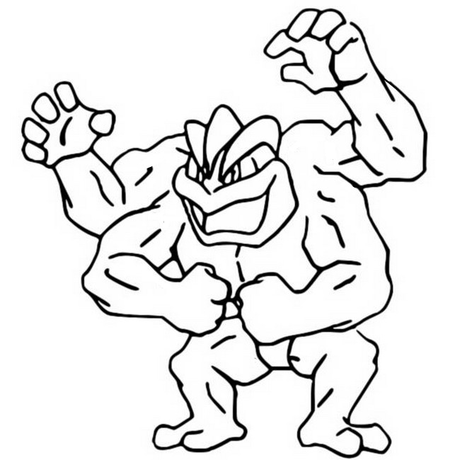 Kleurplaten Pokemon Machamp Malvorlagen Pokemon Machomei Zeichnungen Pokemon