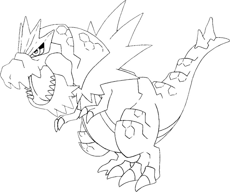 Dibujos para colorear pokemon tyrantrum dibujos pokemon - Pokemon coloriage ex ...