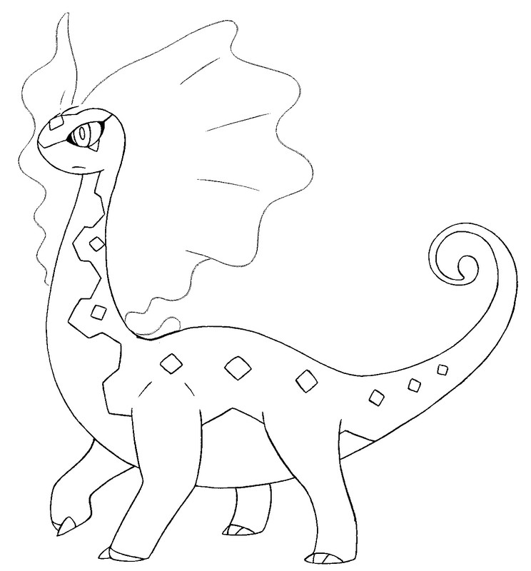 pokemon amaura coloring pages - photo#9