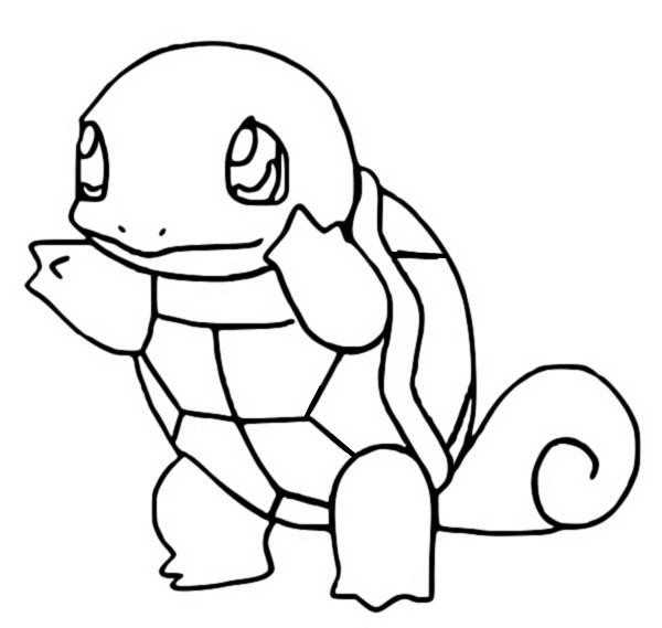 Coloring Pages Pokemon - Carapuce - Squirtle - Drawings Pokemon
