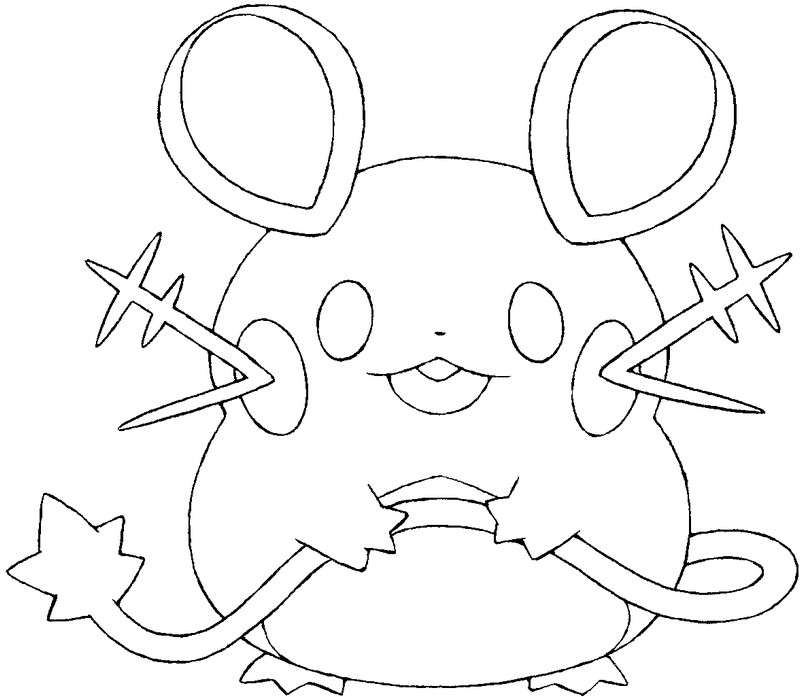 Coloring Pages Pokemon - Dedenne - Drawings Pokemon