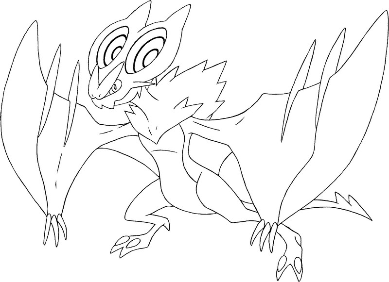 noivern - Coloring Pages Pokemon