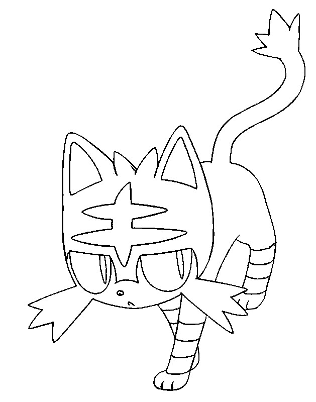 Coloring Pages Pokemon Litten Drawings Pokemon And The Coloring Page