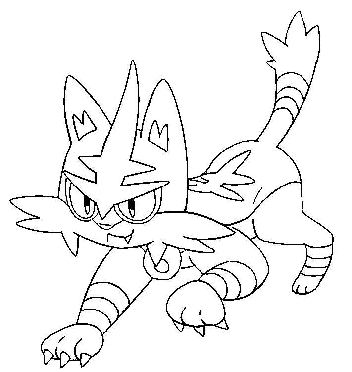 Coloring Pages Pokemon Torracat Drawings Pokemon