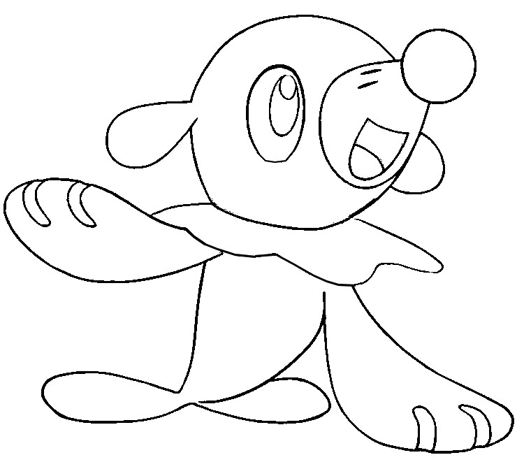 Coloring Pages Pokemon - Popplio - Drawings Pokemon