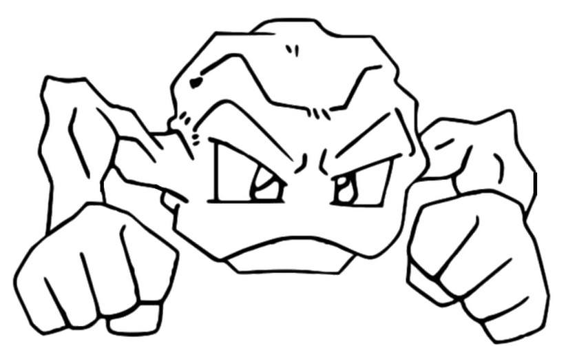 Coloring Pages Pokemon - Geodude - Drawings Pokemon