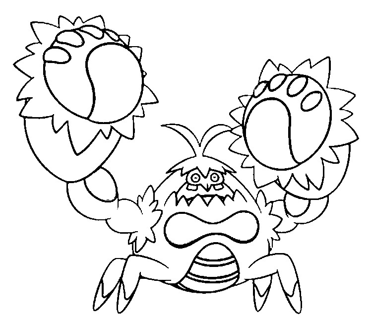 Crab coloring pages for kids