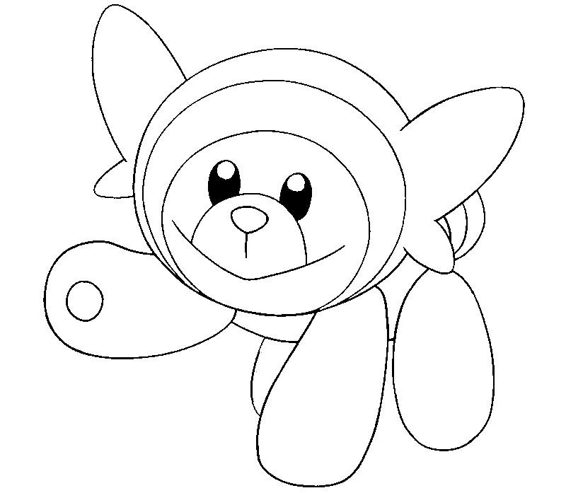 Coloring Pages Pokemon - Stufful - Drawings Pokemon