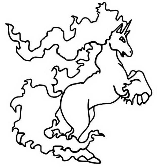Coloring Pages Pokemon Rapidash