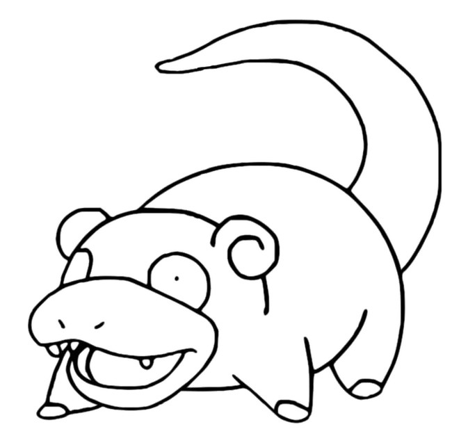Slowpoke Pokemon Slowpoke Coloring Pages