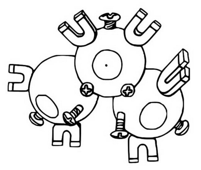 pokemon magneton coloring pages - photo#4