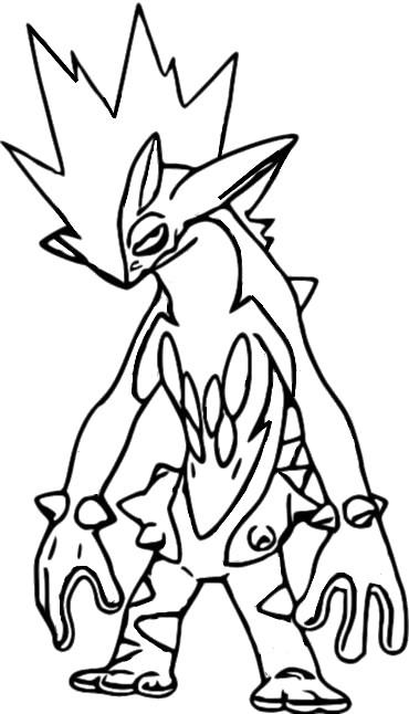 Disegni Da Colorare Di Pokemon.Disegni Da Colorare Pokemon Toxtricity Disegni Pokemon