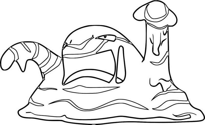 pokemon muk coloring pages - photo#9