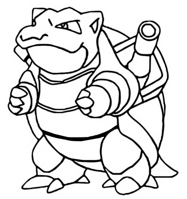pokemon coloring pages of blastoise - photo#3
