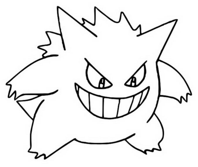 Coloring Pages Pokemon Gengar Drawings Pokemon